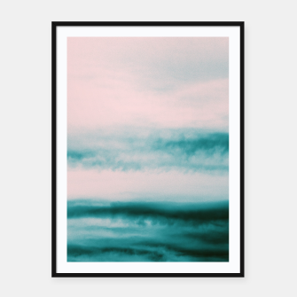 Thumbnail image of Ocean Romance #1 #abstract #decor #art Plakat mit rahmen, Live Heroes