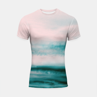 Thumbnail image of Ocean Romance #1 #abstract #decor #art Shortsleeve rashguard, Live Heroes