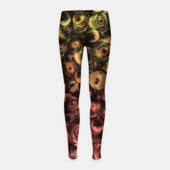 Miniature de image de Monsters Eye Party Washed Girl's leggings, Live Heroes