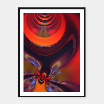Thumbnail image of Amber Goddess  - Orange and Gold Passion Framed poster, Live Heroes