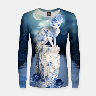 Thumbnail image of Porcelain Sphynx Women sweater, Live Heroes