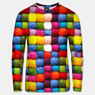 Thumbnail image of Colorfull Rainbow Fabric Bubbles Unisex sweater, Live Heroes