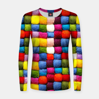 Thumbnail image of Colorfull Rainbow Fabric Bubbles Women sweater, Live Heroes