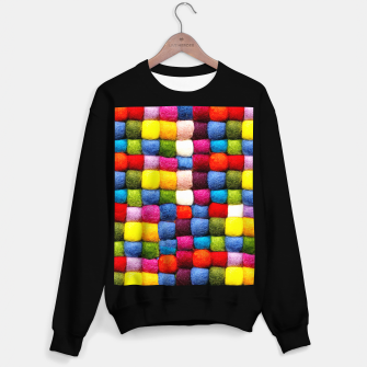 Thumbnail image of Colorfull Rainbow Fabric Bubbles Sweater regular, Live Heroes