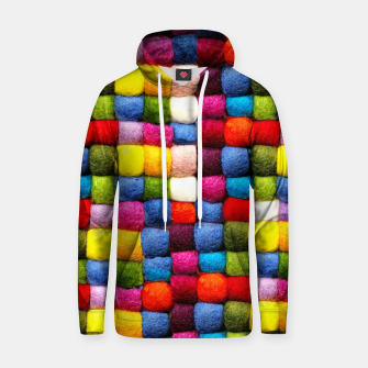 Thumbnail image of Colorfull Rainbow Fabric Bubbles Hoodie, Live Heroes
