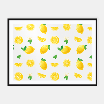 Thumbnail image of Bittersweet Mellow Bright Yellow Lemon Framed poster, Live Heroes