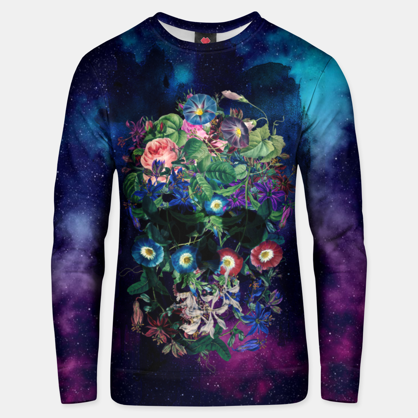 Foto Colorful Skull Unisex sweater - Live Heroes