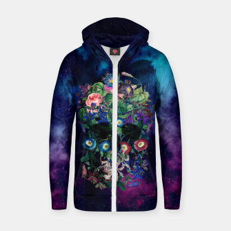 Colorful Skull Zip up hoodie Bild der Miniatur