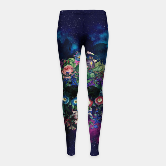 Colorful Skull Girl's leggings Bild der Miniatur