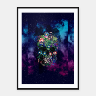 Colorful Skull Framed poster Bild der Miniatur