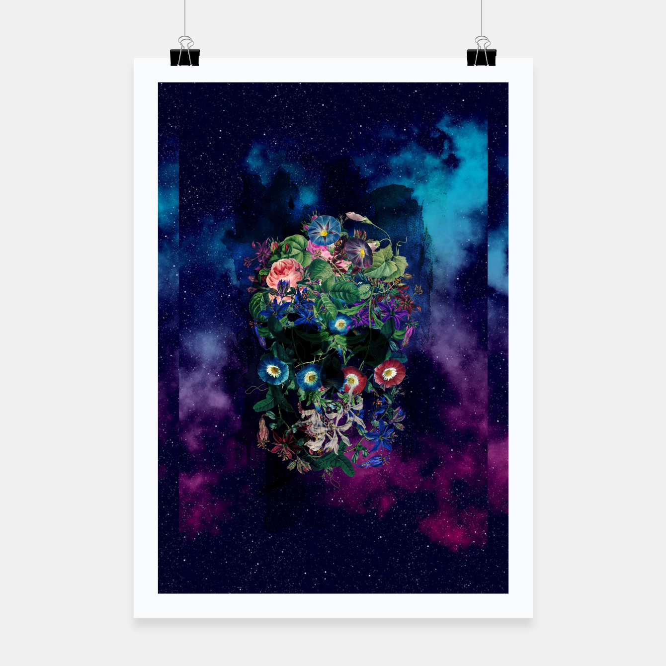 Foto Colorful Skull Poster - Live Heroes