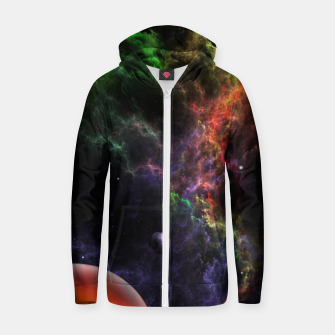 Thumbnail image of Planetoids In The Nebula Cluster Zip up hoodie, Live Heroes