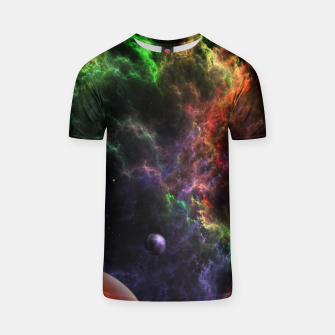 Thumbnail image of Planetoids In The Nebula Cluster T-shirt, Live Heroes