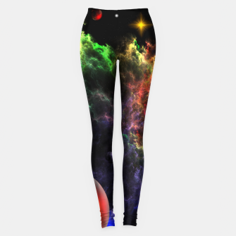 Thumbnail image of Planetoids In The Nebula Cluster Leggings, Live Heroes
