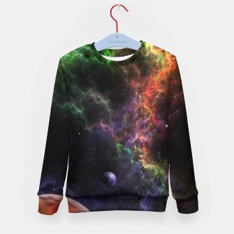 Thumbnail image of Planetoids In The Nebula Cluster Kid's sweater, Live Heroes