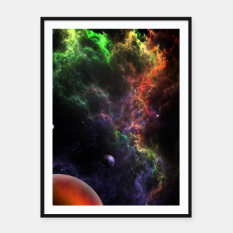 Thumbnail image of Planetoids In The Nebula Cluster Framed poster, Live Heroes