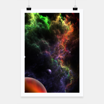 Thumbnail image of Planetoids In The Nebula Cluster Poster, Live Heroes