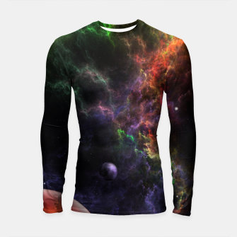 Thumbnail image of Planetoids In The Nebula Cluster Longsleeve rashguard , Live Heroes