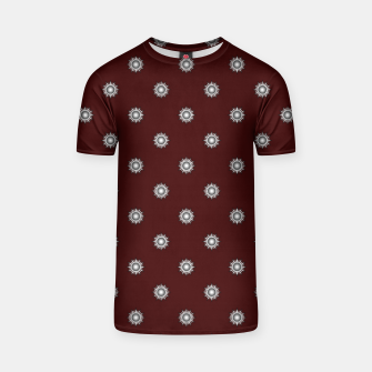 Thumbnail image of Orb Glyphs Maroon T-shirt, Live Heroes