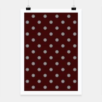 Thumbnail image of Orb Glyphs Maroon Poster, Live Heroes
