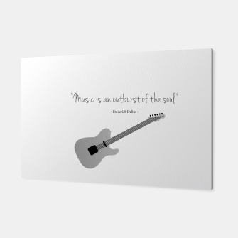 Miniaturka Guitars with a famous quote. Music is an outburst of the soul by Frederick delius Canvas, Live Heroes