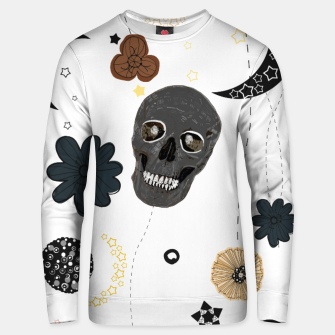 Thumbnail image of Skull and galaxy and stars abstract pattern Unisex sweater, Live Heroes