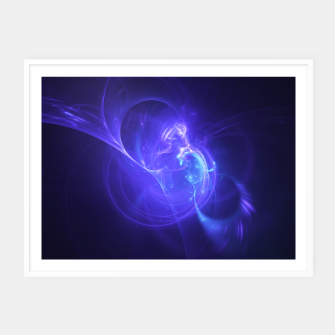 Thumbnail image of Deep Space Abstract Fractal Art Design Framed poster, Live Heroes
