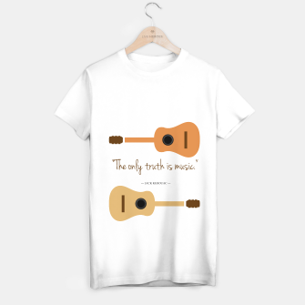 Miniaturka The only truth is Music. Guitars with a famous quote. T-shirt regular, Live Heroes