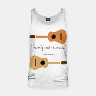Miniaturka The only truth is Music. Guitars with a famous quote. Tank Top, Live Heroes