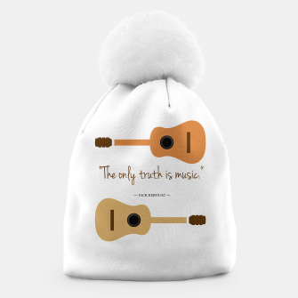 Miniaturka The only truth is Music. Guitars with a famous quote. Beanie, Live Heroes