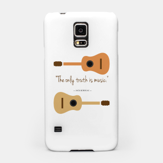 Miniaturka The only truth is Music. Guitars with a famous quote. Samsung Case, Live Heroes
