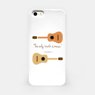 Miniaturka The only truth is Music. Guitars with a famous quote. iPhone Case, Live Heroes