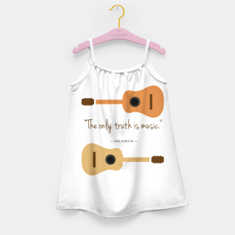 Miniaturka The only truth is Music. Guitars with a famous quote. Girl's dress, Live Heroes