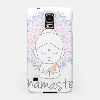Thumbnail image of Cute Buddha sending greetings The word 'Namaste' is a respectful greeting also called 'Namaskar' Samsung Case, Live Heroes