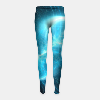 Thumbnail image of Making Contact Abstract Fractal Art Design Girl's leggings, Live Heroes