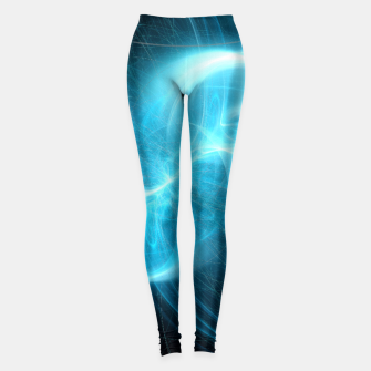 Thumbnail image of Making Contact Abstract Fractal Art Design Leggings, Live Heroes