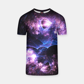 Thumbnail image of Grunged Space Abstract Fractal Art T-shirt, Live Heroes