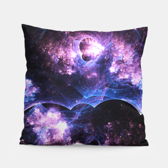 Thumbnail image of Grunged Space Abstract Fractal Art Pillow, Live Heroes