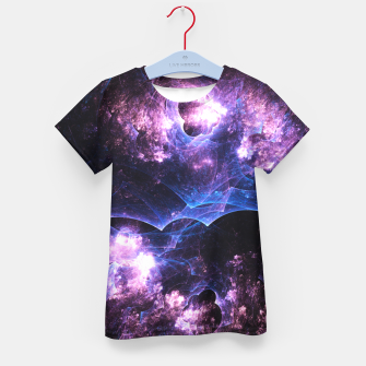 Thumbnail image of Grunged Space Abstract Fractal Art Kid's t-shirt, Live Heroes