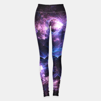Thumbnail image of Grunged Space Abstract Fractal Art Leggings, Live Heroes