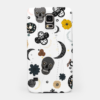 Miniaturka Skull and galaxy and stars abstract pattern Samsung Case, Live Heroes