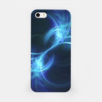 Thumbnail image of Blue Pulsar Abstract Fractal Art Design iPhone Case, Live Heroes