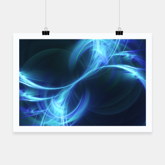 Thumbnail image of Blue Pulsar Abstract Fractal Art Design Poster, Live Heroes