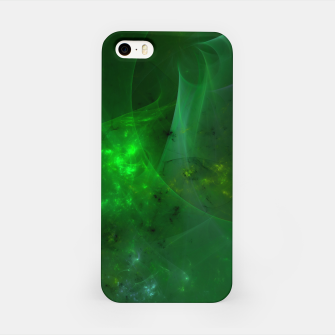 Thumbnail image of Emerald Sky Abstract Fractal Art Design iPhone Case, Live Heroes