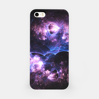 Thumbnail image of Grunged Space Abstract Fractal Art iPhone Case, Live Heroes