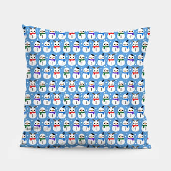 Thumbnail image of Snowman Pattern Almohada, Live Heroes