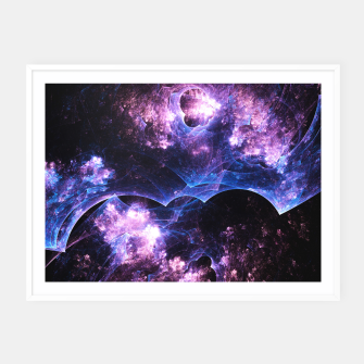 Thumbnail image of Grunged Space Abstract Fractal Art Framed poster, Live Heroes