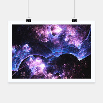 Thumbnail image of Grunged Space Abstract Fractal Art Poster, Live Heroes