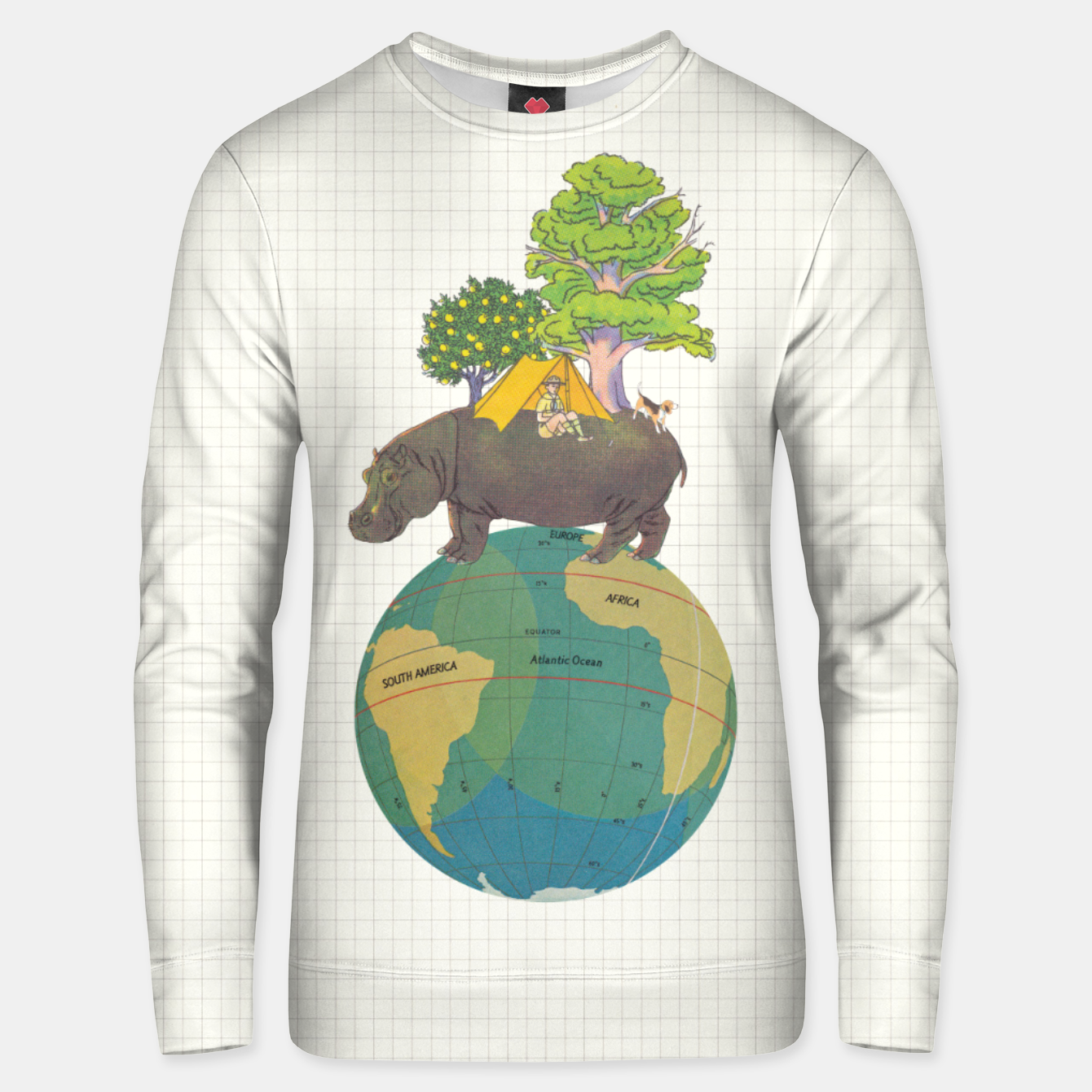 Foto Camping Life Unisex sweater - Live Heroes