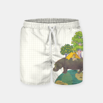 Miniatur Camping Life Swim Shorts, Live Heroes